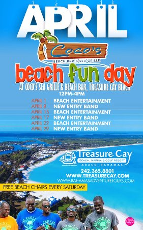 Treasure Cay, Great Abaco: Beach Fun Days at Coco Beach Bar & Grille