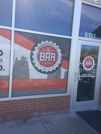 Mission, KS: The Bar located in a former service station.