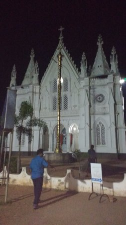 St. Thomas Forane Church: Front View of the New Church (Late evening )