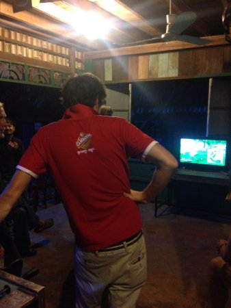 wii golf at the hangout