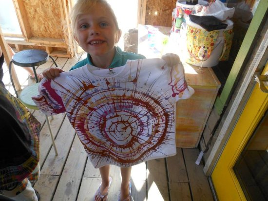 Fish Creek, WI: Spin Art is so much fun! Spin your creation on a t-shirt or a canvas.