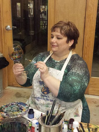Fish Creek, WI: Paint your own wine glasses, vases and more!