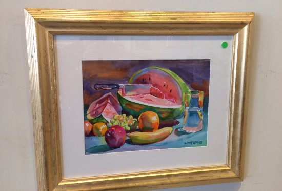 Wyatt Waters Gallery: Watermelon watercolor