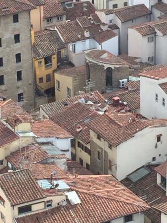 Hotel Brunelleschi: View of the hotel from the top of the Duomo!