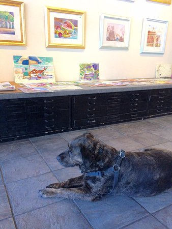 Wyatt Waters Gallery: James and the artwork
