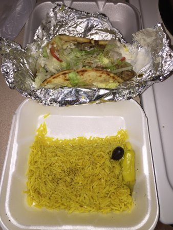 Eden Prairie, MN: The Athena gyro with rice