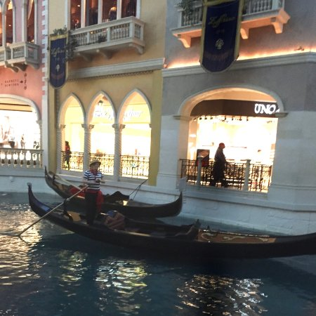 Gondola Rides at the Venetian : Gondolas on the canal near Canonita restaurant. Great ride!