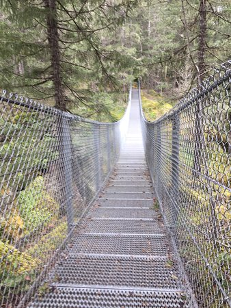 Nanaimo, Canadá: Haslam Creek suspension bridge