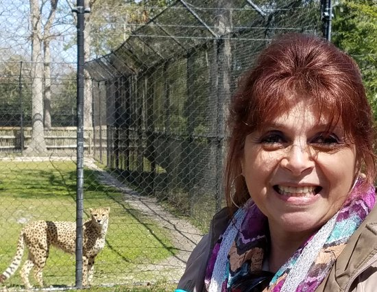 "Cape May Court House, NJ: My Sister with one of ""Her"" Cheetahs :)"