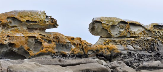 Mayne Island, Canadá: Interesting rock formations