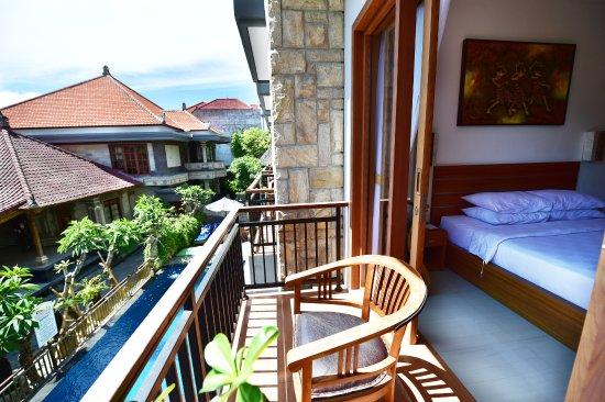 Satriya Cottages: Balcony of Standard room upstairs