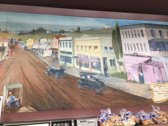 Poulsbo, WA: painting of town