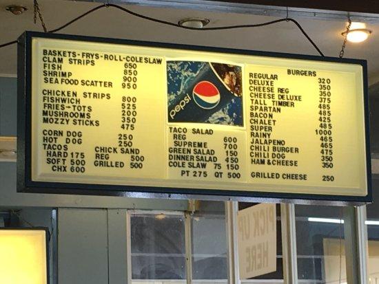 Sully's Drive-in : menu 1