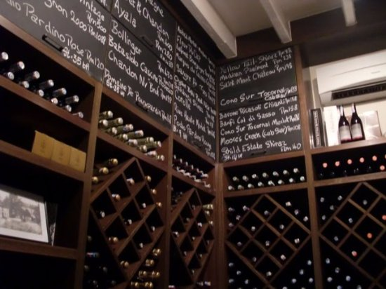 That Little Wine Bar: A glimpse of the wine selection at TLWB