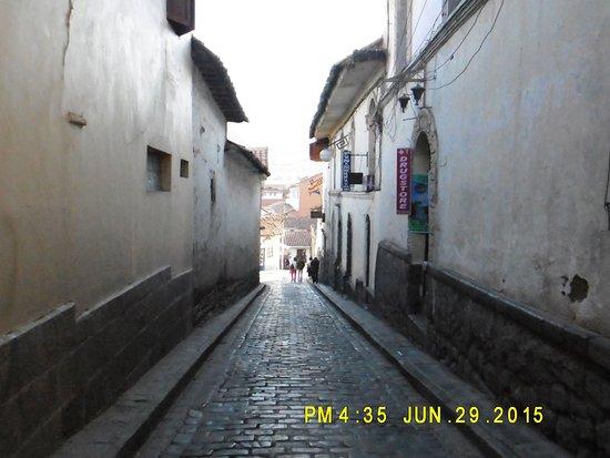 Chihuampata - round the corner to get Alabado street and Mamma Cusco Hostel in San Blas - Cusco