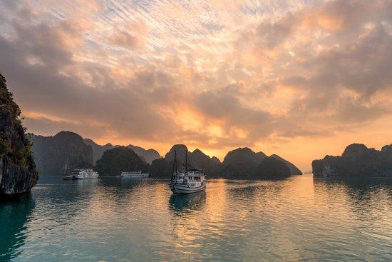 Image result for halong bay sunrise