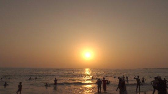 Sunset at Juhu beach