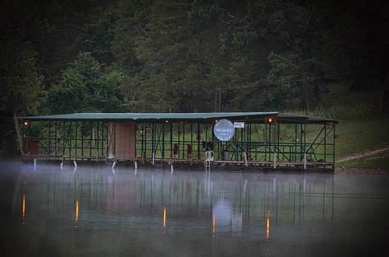Harpers Valley Resort: Our dock in a quiet no wake cove on Table Rock Lake