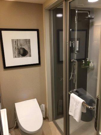 Hotel Ryumeikan Tokyo: シャワーブースなので、トイレとはセパレートされています。