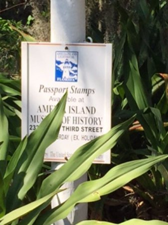 Amelia Island Lighthouse: They send you to another location to get a passport stamp.