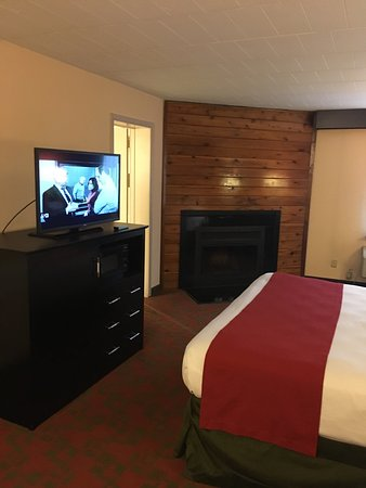 Room With Log Burning Fireplace. - Picture of Best Western Plus ...