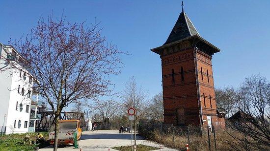 Wasserturm an der Hubbrücke