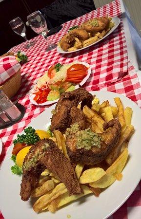 Suza, โครเอเชีย: fish steaks