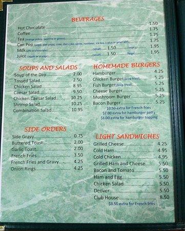 Vermilion, Canadá: menu page 1