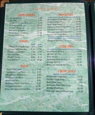 Vermilion, Canadá: menu page 3