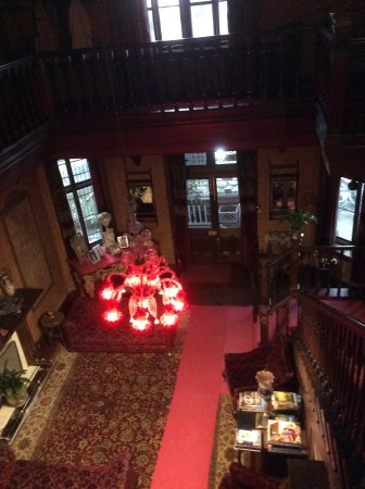 Chapslee: View of entry hall from upstairs