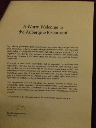 Aubergine: Welcome note