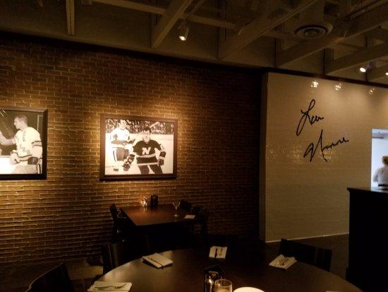 Edina, MN: Lou Nanne memorabilia on the walls