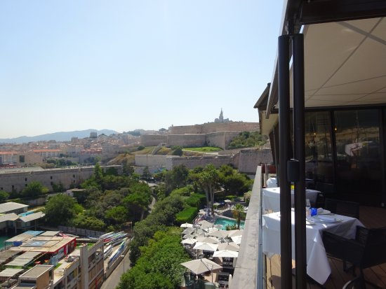 View from restaurant deck picture of sofitel marseille - Restaurant libanais vieux port marseille ...