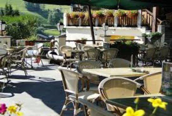 Areches, France: Vue de la terrasse