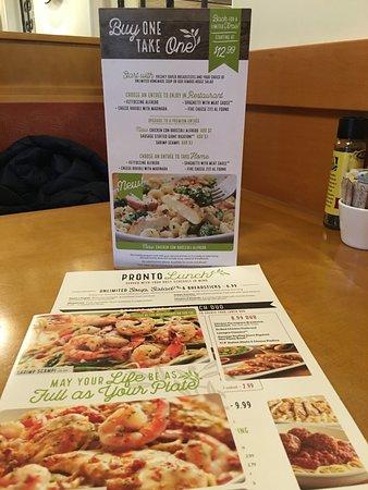 Lunch Menu Specials Picture Of Olive Garden Midland Tripadvisor