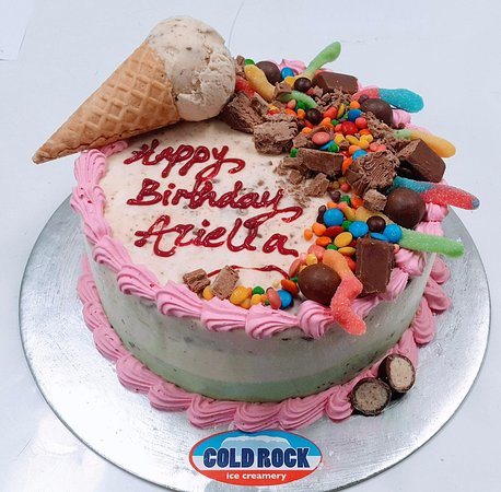 Admirable The Best Birthday Cake Is A Cold Rock Ice Cream Cake Foto Van Personalised Birthday Cards Bromeletsinfo