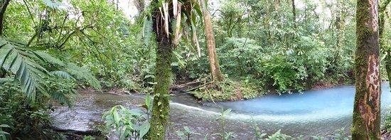 Tenorio Volcano National Park, Κόστα Ρίκα: Lorsque deux rivières se rencontrent , MAGIE !!
