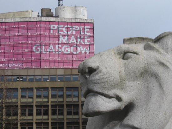 George Square: George Sqare - Cenotaph Lion