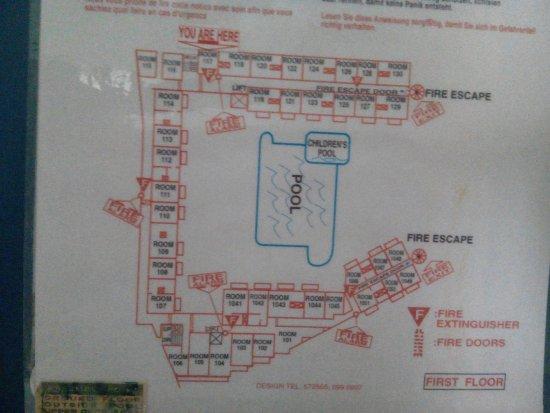San Pawl Hotel: Układ Hotelu /1 kondygnacja/ są 3 piętra