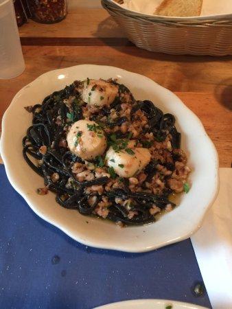The Daily Catch: Black pasta Aglio Olio