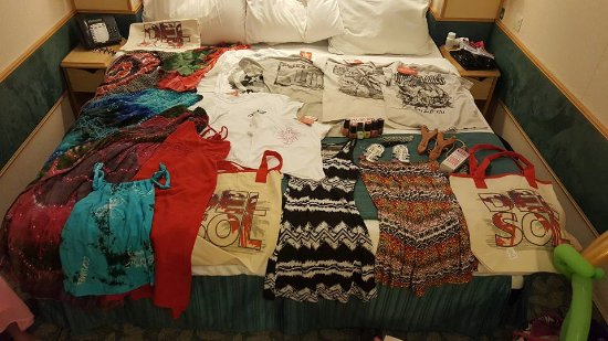 Forum Shops: Items purchased at Del Sol and other shops.