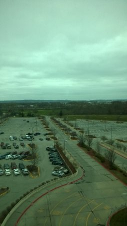 Harrah's Council Bluffs: Parking lot to the East, 9th floor