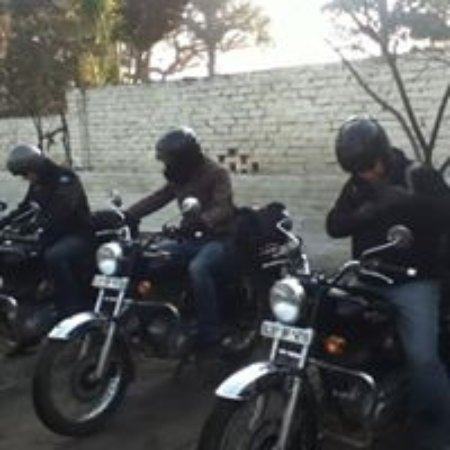 ‪‪Bulandshahr‬, الهند: The Bikers from Austria‬