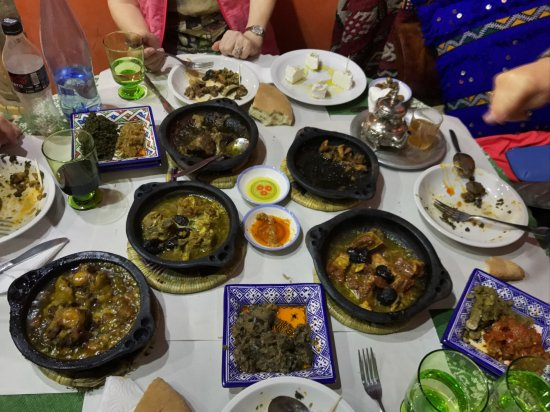 Lala Mesouda: 5 main course tagines ranging from beef (including delicious beef calf muscle) to lamb to goat