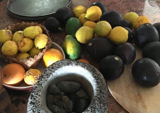 Holualoa, HI: Home grown fruits