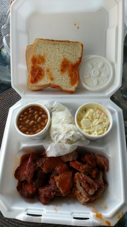 Mesquite, TX: The near and sides are excellent. The BBQ sauce is just ok