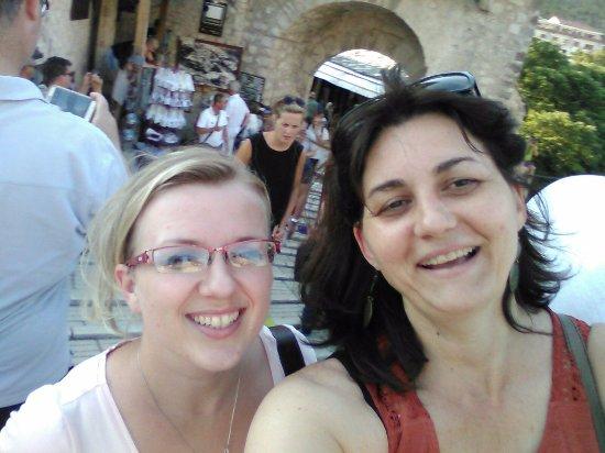 Citluk, Bosnia and Herzegovina: Carlatours guides Natalija and Tamara Old bridge Mostar