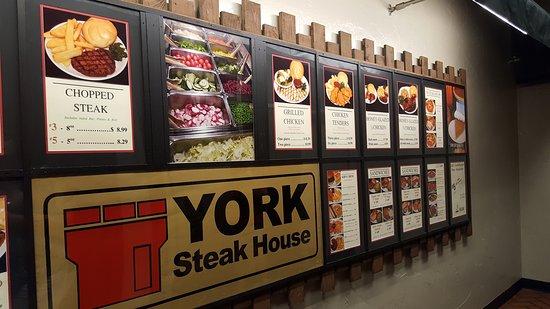 York Steakhouse Menu Board