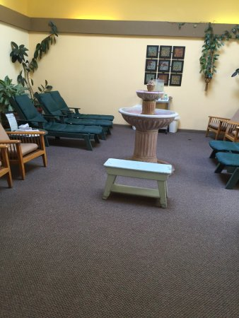Yampah Spa and Vapor Caves : Waiting area or for cooling off after vapor caves. Very relaxing