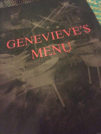 Genevieve's Restaurant: menu